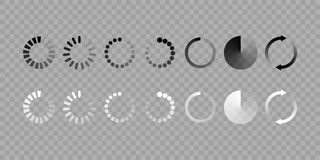 Load icon vector isolated set royalty free illustration