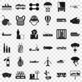 Load icons set, simple style. Load icons set. Simple style of 36 load vector icons for web for any design stock illustration