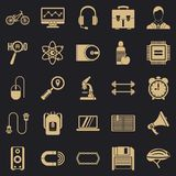 Load icons set, simple style. Load icons set. Simple set of 25 load vector icons for web for any design royalty free illustration