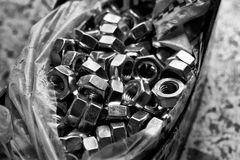 Load of new alloy nuts Stock Image