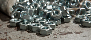 Load of new alloy nuts Stock Photography
