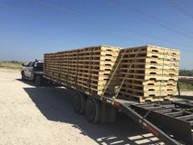 Load of pallets Royalty Free Stock Photo