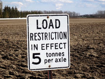 A load restriction sign in ontario Royalty Free Stock Photos