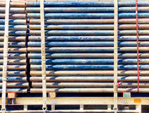 Load of scaffolding pipe Stock Images