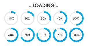 Load status icon Is waiting to process the data In various forms.  royalty free illustration