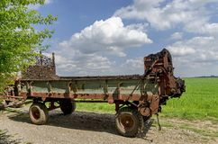 Load trailer of the field Stock Photography