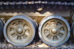 Load wheels caterpillar tank Stock Images