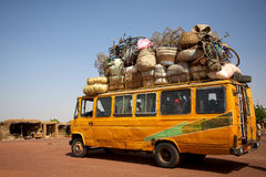 Loaded African min van Stock Photos