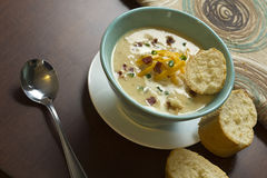 Loaded Baked Potato Soup Stock Photography