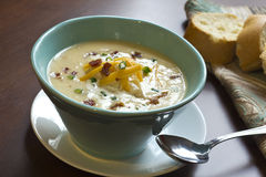 Loaded Baked Potato Soup Stock Images