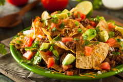 Loaded Beef and Cheese Nachos Stock Images