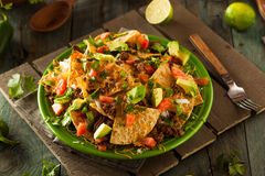 Loaded Beef and Cheese Nachos Royalty Free Stock Photography