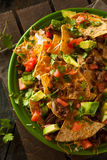Loaded Beef and Cheese Nachos Royalty Free Stock Image