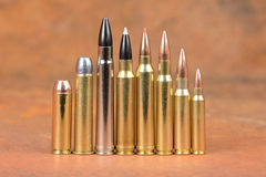 Loaded cartridges. Royalty Free Stock Images