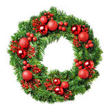 Loaded Christmas wreath Stock Photography