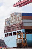 Loaded containers Stock Photos