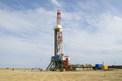 Loaded drilling rig Stock Photos