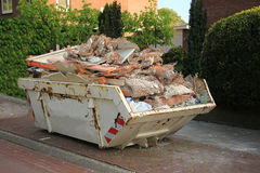Loaded dumpster Royalty Free Stock Images