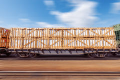 Loaded freight carriage. Stock Images