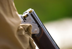 Loaded hunting gun ready for the hunt Royalty Free Stock Photography