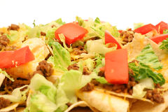 Loaded nachos level Royalty Free Stock Images
