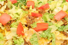 Loaded nachos upclose Stock Photos