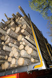 Loaded Timber. Close up of loaded timber Stock Photography