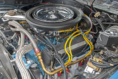 Loaded V8 engine compartment Royalty Free Stock Photo