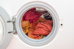 Loaded washing machine Stock Photography