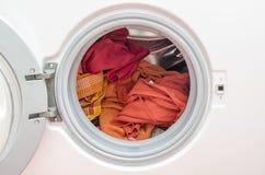 Loaded washing machine Stock Photography