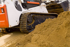 Loader. At a work site royalty free stock photography