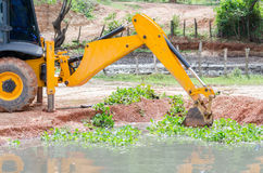 Loader Backhoes working Royalty Free Stock Images
