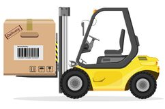 Loader with box Royalty Free Stock Photo