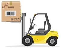 Loader with box Stock Photo