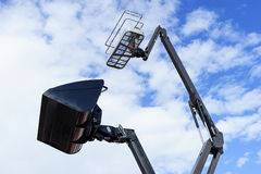 Loader bucket and lift platform Royalty Free Stock Image
