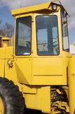 Loader Bulldozer. Wheel Bulldozer Heavy Equipment Cab Detail Stock Image