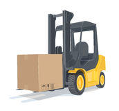 Loader car with box Stock Image