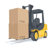 Loader car with boxes Stock Photos