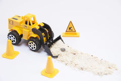 Loader carrying sand Royalty Free Stock Image