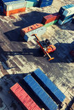 Loader containers on site at the port Stock Photo