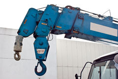 Loader cranes and hook Royalty Free Stock Photo