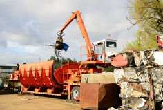 Loader Crusher Royalty Free Stock Photography