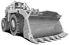 Loader_engraving royalty free illustration