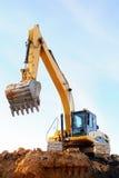 Loader excavator stock photos