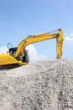 Loader Excavator. Doing construction works Royalty Free Stock Photos