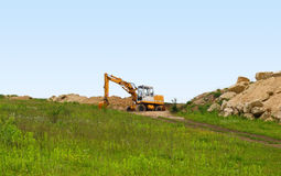 Loader excavator Stock Photo