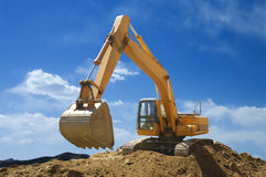 Loader-excavator royalty free stock photos