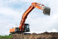 Loader excavator at construction Stock Photo