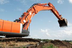 Loader excavator at construction Stock Image