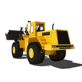 Loader excavator construction isolated Royalty Free Stock Photography